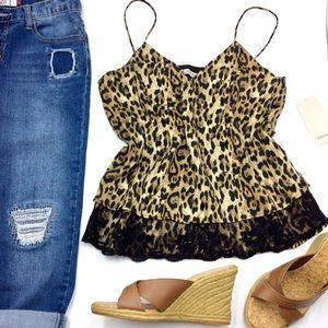 Zara Leopard Print Camisole Top